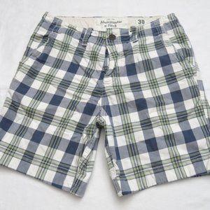 Abercrombie & Fitch Plaids Checks Button Fly Short